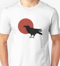 Red Moon and Crow Raven T-shirt (Large image) T-Shirt