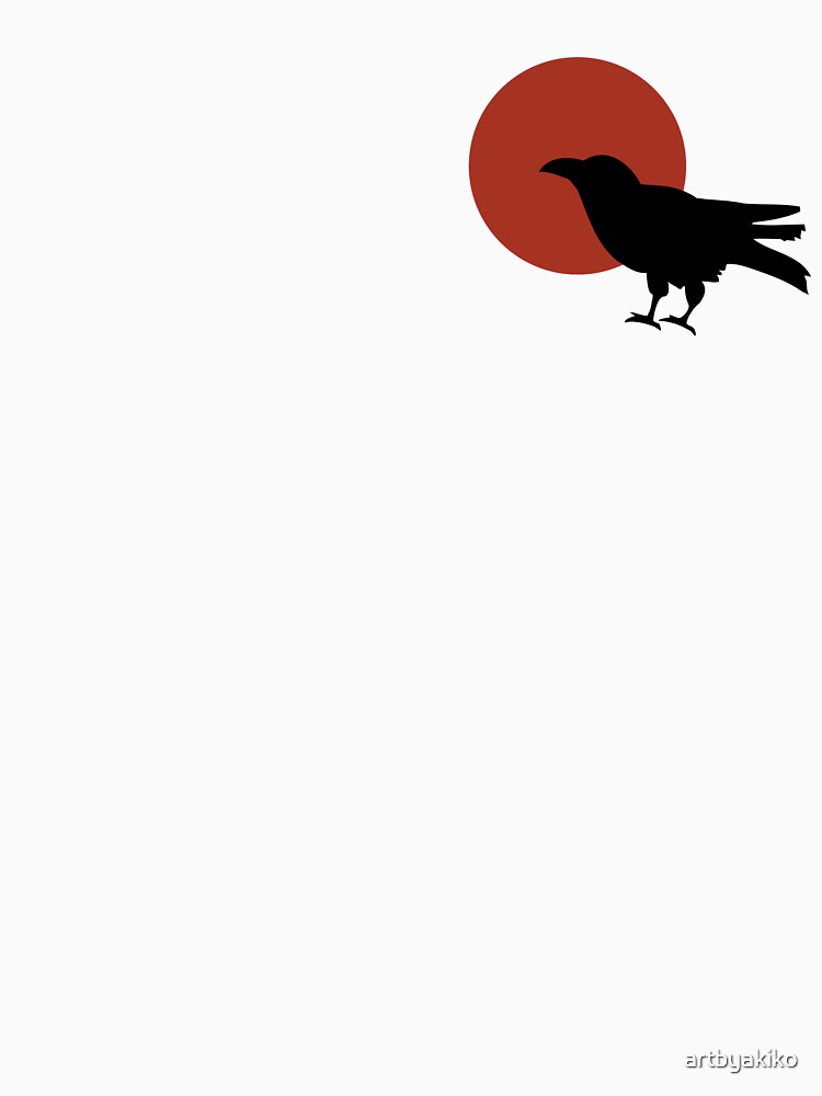 Red Moon and Crow Raven T-shirt (Small image) | Unisex T-Shirt