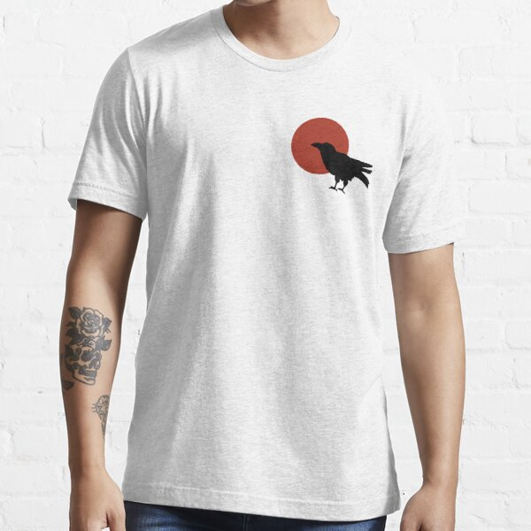 Red Moon and Crow Raven T-shirt (Small image) Essential T-Shirt