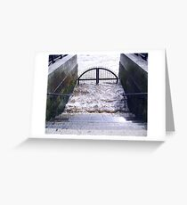 Thames, a Boat Gate near the Tower of London. Great Britain  2009 Greeting Card