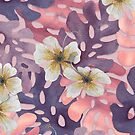 Antique Pink Hibiscus Pattern by artlovepassion