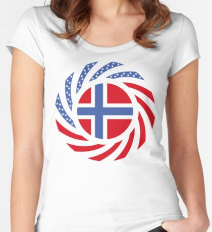 Bouvet American Multinational Patriot Flag Series Fitted Scoop T-Shirt