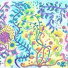 Floral abstract colorful design by Medilludesign