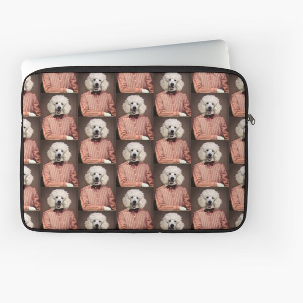White French Poodle - Mademoiselle Charlotte Laptop Sleeve