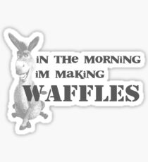 in the morning, donkey is making waffles Sticker