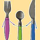 « Fourchette, couteau et cuillère » par experimentons