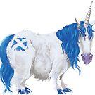 Scottish Saltire Unicorn by Rowena Aitken