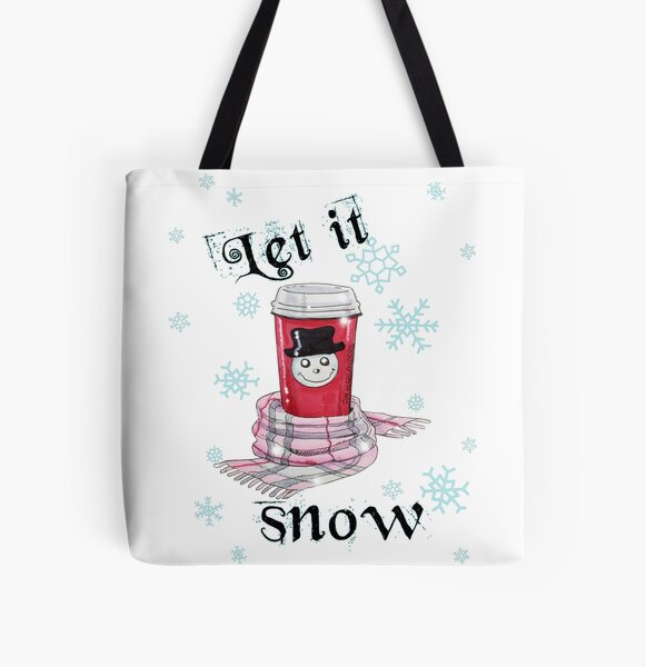 Let it snow All Over Print Tote Bag