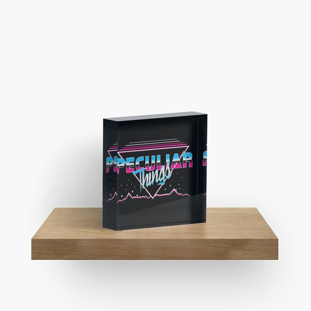 Peculiar Things 80s - Fenix Comics Acrylic Block