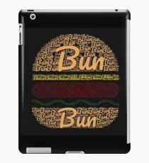 Word clouds cheeseburger iPad Case/Skin