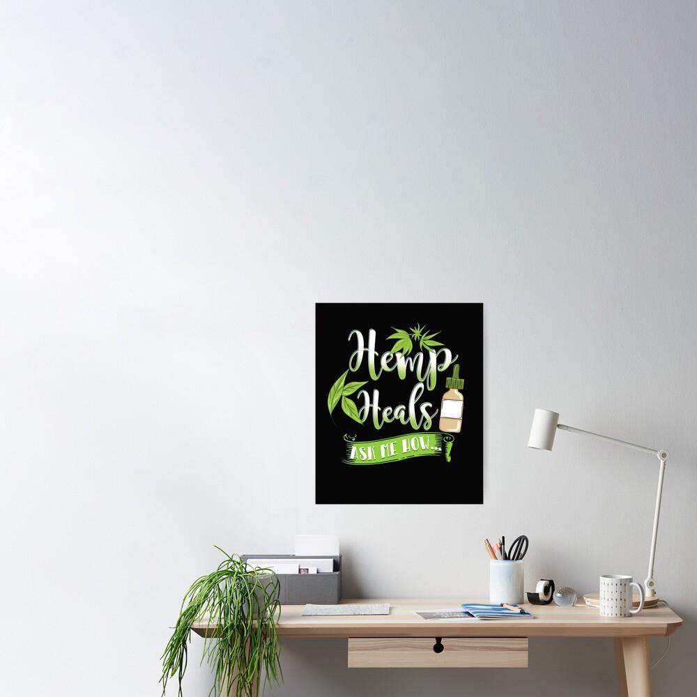 Hemp Heals CBD Oil Design  Poster