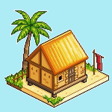 Isometric Beach Hut by maicakes