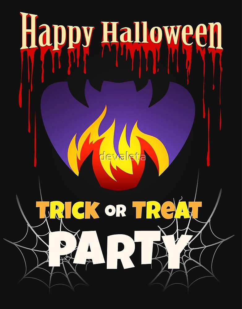 halloween party poster design template by devaleta redbubble