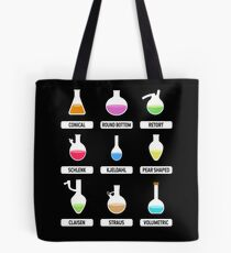 Science Teacher. Pro Science. Chemistry Teacher. Science Gift. Educational Lab Glassware. Chemistry Flasks. Infographic. Science Nerd. Laboratory. Chemist. Tote Bag