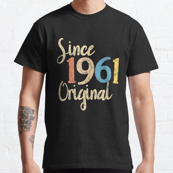 1961 cumpleaños vintage retro Camiseta clásica