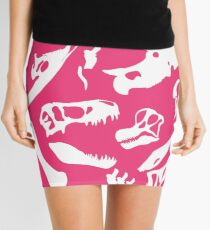 Dinosaur Bones (Pink) Mini Skirt