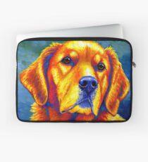 Colorful Golden Retriever Dog Portrait Laptop Sleeve