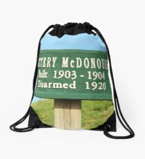 Fort Caswell Sign Drawstring Bag