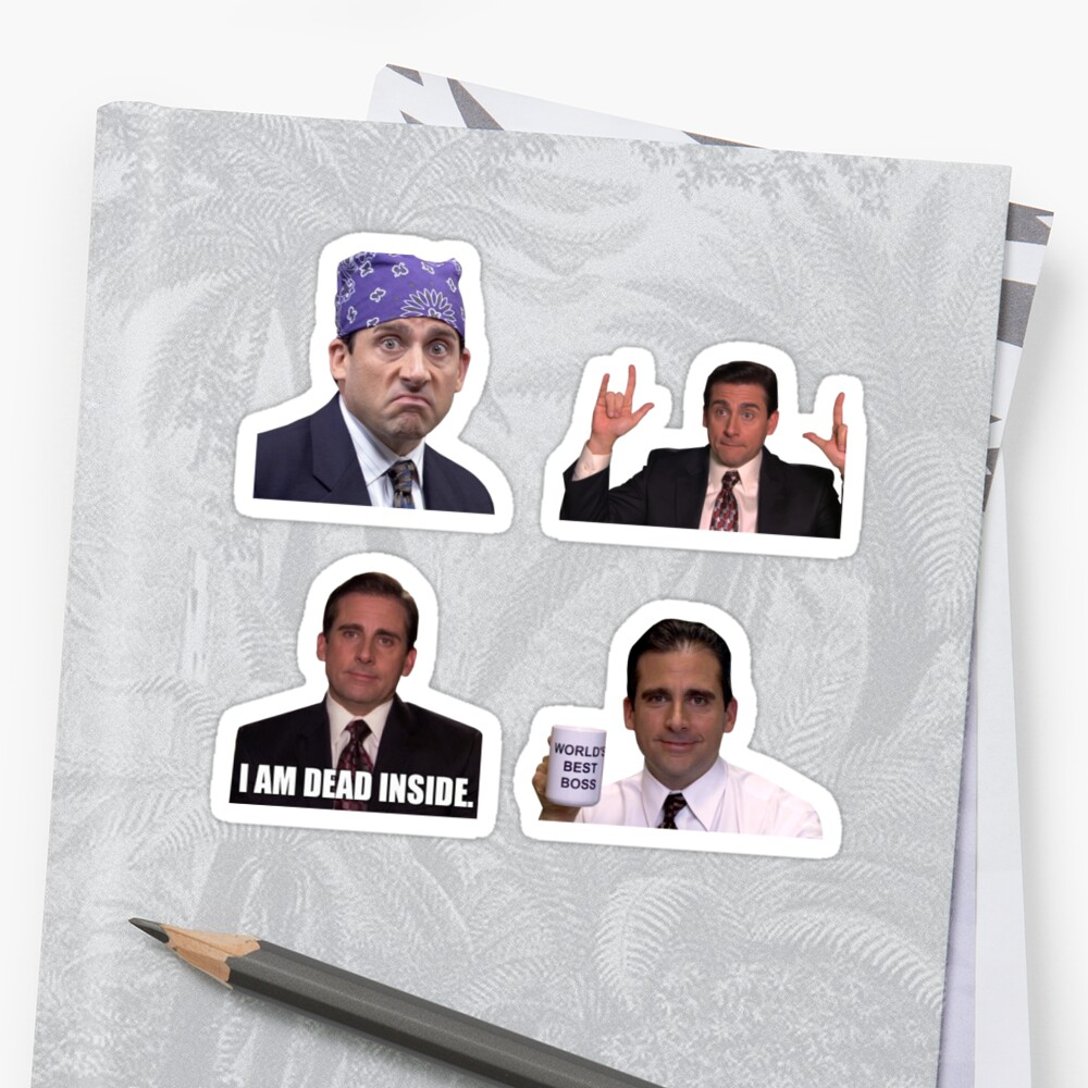 The Office Set Stickers