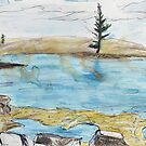 Lone Pine, Across Emily Bay by John Douglas