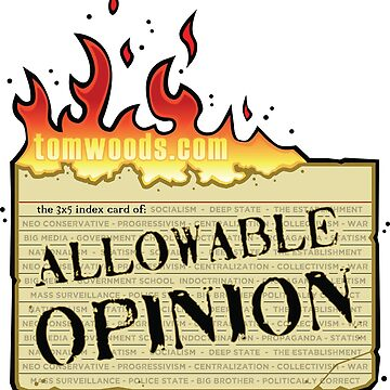 3 by 5 Card of Allowable Opinion by lewisliberman