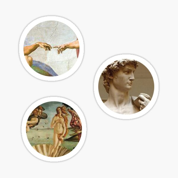 Michelangelo Artsy Stickers  Sticker