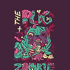 The Pug zombie by nokhookdesign