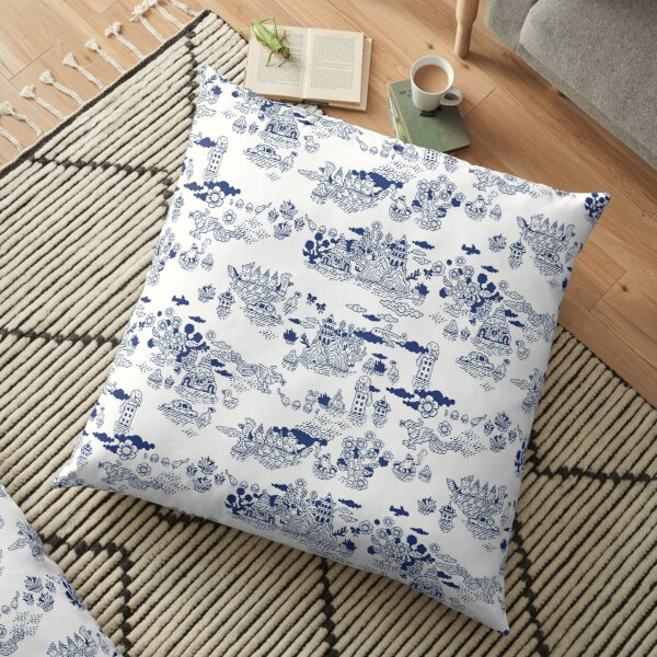 FLOOD IN ANTIQUE CHINESE Floor Pillow