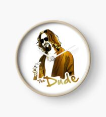 the dude, exclusive gold edition Clock