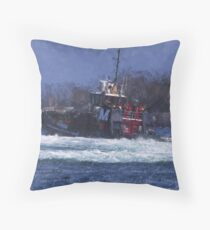 2018 MORAN TUG Throw Pillow