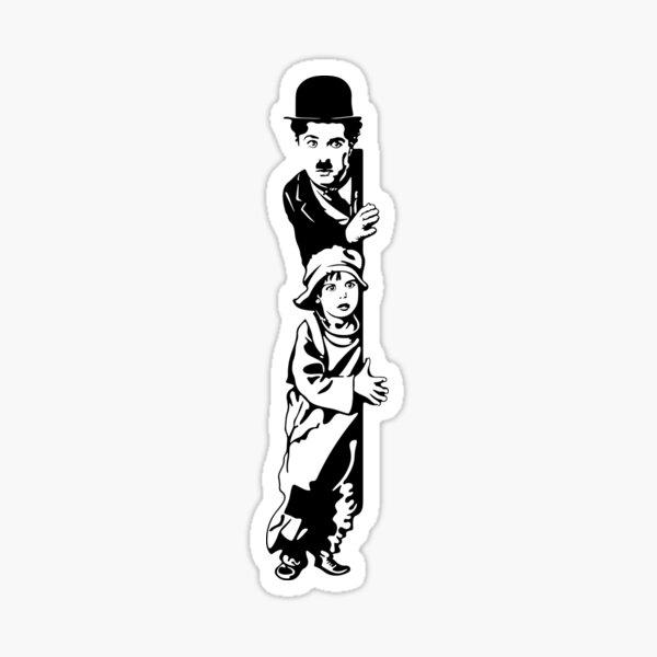 Charlie Chaplin The Kid 1921, conception de l'affiche Sticker