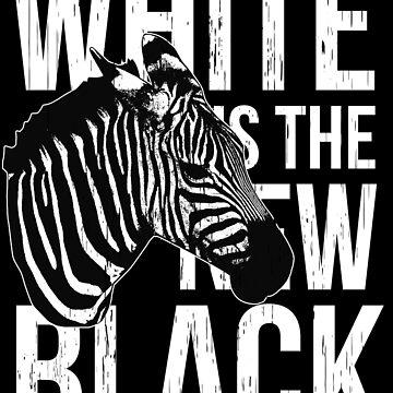Zebra In Black And White by Skullz23