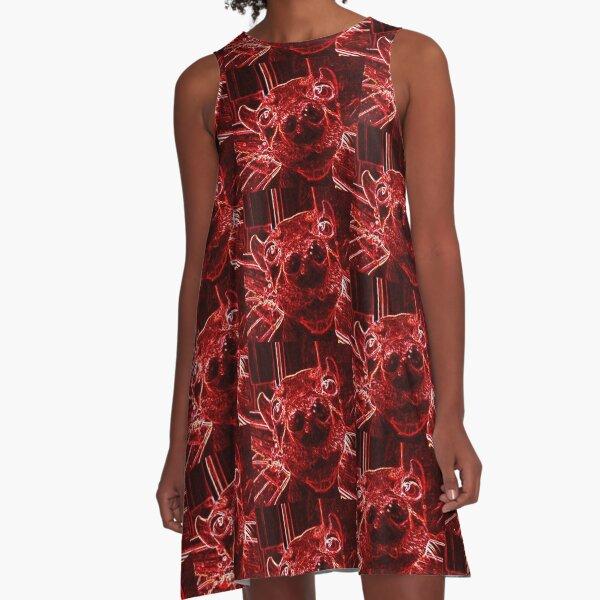 Red Nose A-Line Dress