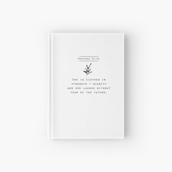 proverbs 31:25 Hardcover Journal