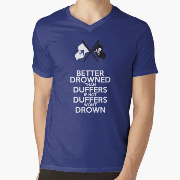 BETTER DROWNED (for dark but not black) V-Neck T-Shirt