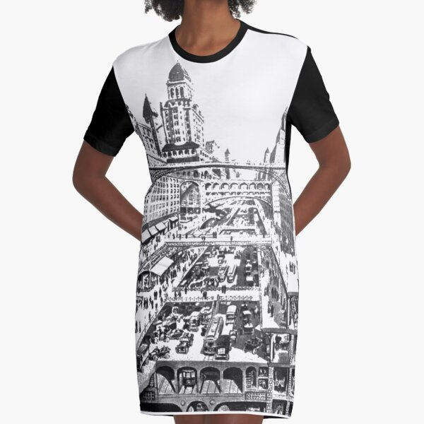 #architecture #city #church #building #sketch #drawing #old #landmark #italy #cathedral #house #tower #travel #white #london #black #europe #illustration #blackandwhite #religion #gothic #art #pencil Graphic T-Shirt Dress