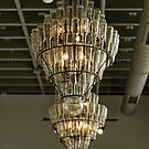 Bottle Chandelier Geneva, NY USA by Frank Kapusta