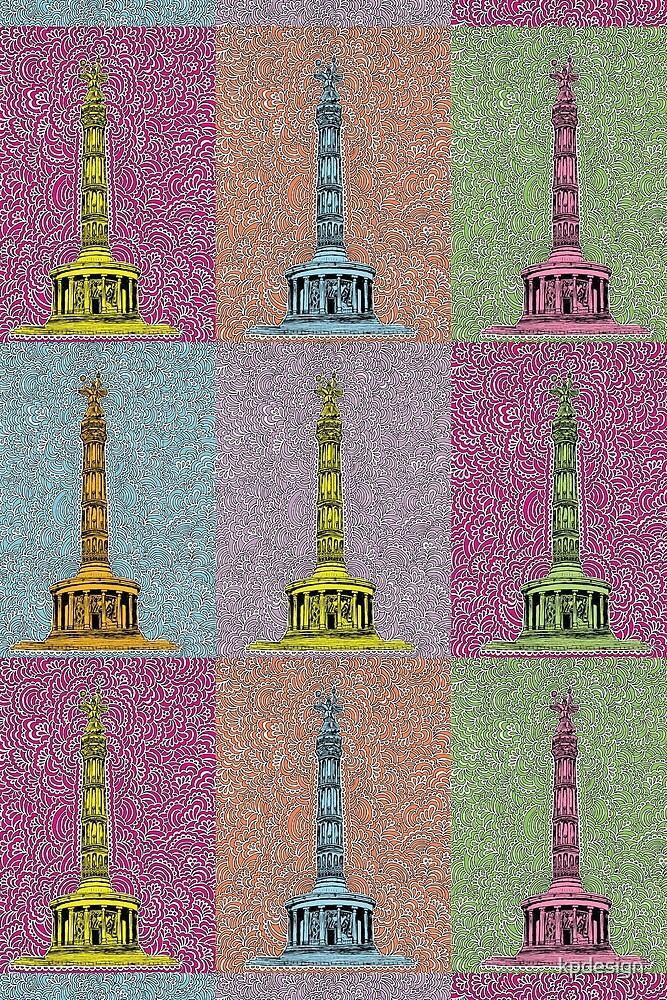 Siegessäule Drawing Meditation - Rainbow by kpdesign