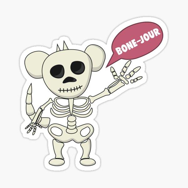 Bone-jour - Monstapals Halloween Special  Sticker