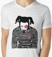 Camiseta para hombre de cuello en v Denzel Curry-Clout Cobain