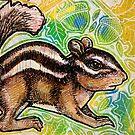 Cheeky Chipmunk by Lynnette Shelley