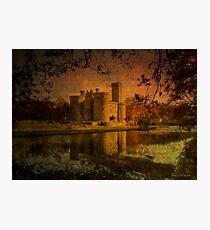 Textured Chateau, Haute Vienne, France Photographic Print