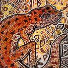 Gecko on Ornamental by Lynnette Shelley