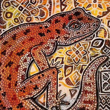 Gecko on Ornamental by LynnetteShelley