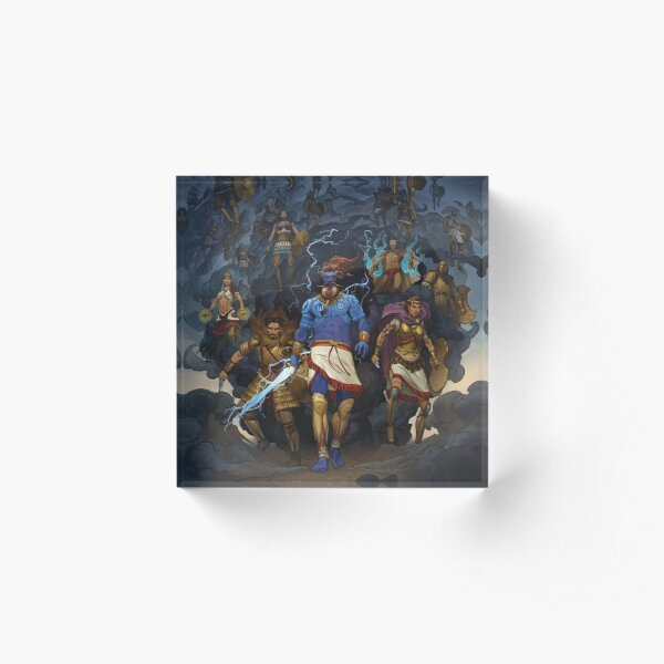 RuneQuest: Roleplaying in Glorantha, Heroes of Orlanth by Andrey Fetisov Acrylic Block