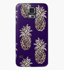 Rose Gold pineapples on purple Case/Skin for Samsung Galaxy