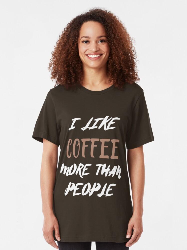 I Run On Caffeine And Sarcasm Ladies Woman Gift Sarcastic T-shirt Tshirt Top