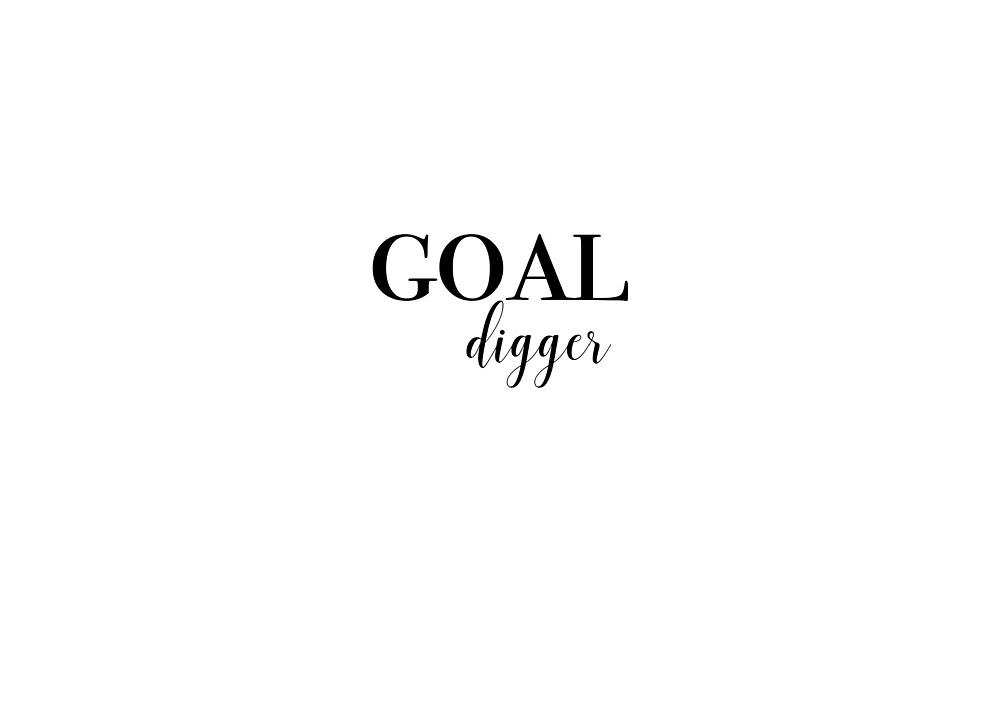 goal digger quote by Jordan Hotz