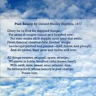 """""""Pied Beauty"""" by Gerard Manley Hopkins, especially good as a card. by Philip Mitchell"""