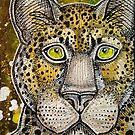 Watching Leopard by Lynnette Shelley